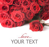 Bordo delle rose fotografie stock