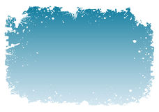 Bordo dello Snowy Fotografia Stock Libera da Diritti