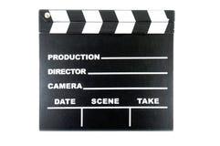 Bordo di applauso su fondo bianco Fotografie Stock