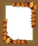 Bordo di autunno di caduta di ringraziamento Immagini Stock Libere da Diritti