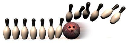 Bordo di bowling Fotografie Stock Libere da Diritti