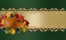 Bordo di caduta di autunno di ringraziamento Immagine Stock