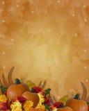 Bordo di caduta di autunno di ringraziamento Fotografia Stock