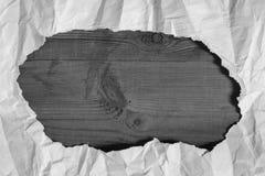 Bordo di carta e di legno piegato Immagine Stock