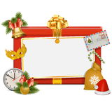 Bordo di celebrazione di Natale di vettore Fotografie Stock Libere da Diritti