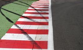 Bordo di circuito della corsa Immagine Stock