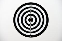 Bordo di dardo in bianco e nero con il punteggio di numerazione Immagini Stock Libere da Diritti