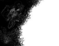 Bordo di Doodle con il dinosauro Fotografia Stock