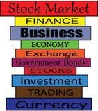Bordo di finanza fotografia stock