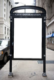 Bordo di informazioni della città Immagine Stock Libera da Diritti