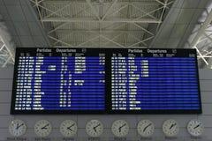Bordo di informazioni di voli Fotografia Stock Libera da Diritti