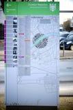 Bordo di informazioni e mappa Francoforte della città Immagine Stock Libera da Diritti