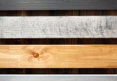 Bordo di legno al fondo della plancia Fotografia Stock Libera da Diritti