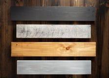 Bordo di legno al fondo della plancia Immagini Stock