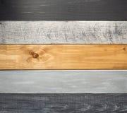 Bordo di legno al fondo della plancia Fotografie Stock Libere da Diritti