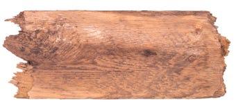 Bordo di legno anziano isolato su un fondo bianco Immagini Stock