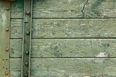 Bordo di legno arrugginito verde Fotografia Stock