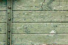 Bordo di legno arrugginito verde Immagini Stock