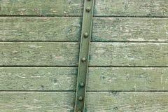 Bordo di legno arrugginito verde Fotografie Stock Libere da Diritti