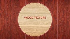 Bordo di legno di Brown Struttura legnosa della quercia La forma di parquet, pavimentazione laminata, mobilia illustrazione vettoriale
