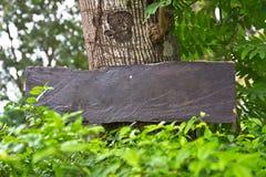 Bordo di legno del segno Fotografie Stock Libere da Diritti