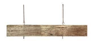 Bordo di legno del segno fotografia stock