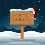 Bordo di legno di Buon Natale Fotografie Stock