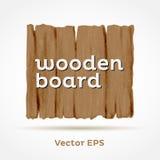 Bordo di legno. Elemento di vettore. Fotografia Stock