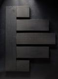 Bordo di legno a fondo nero Fotografia Stock