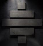 Bordo di legno a fondo nero Immagine Stock Libera da Diritti