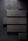 Bordo di legno a fondo nero Immagini Stock Libere da Diritti
