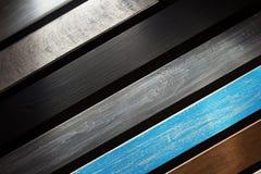Bordo di legno a fondo nero Fotografie Stock