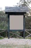 Bordo di legno in montagna Immagini Stock Libere da Diritti