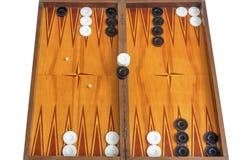 Bordo di legno per il gioco del gioco della tavola reale Fotografia Stock Libera da Diritti