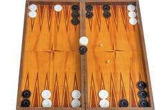Bordo di legno per il gioco del gioco della tavola reale Fotografia Stock