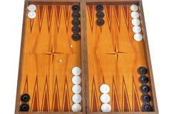 Bordo di legno per il gioco del gioco della tavola reale Immagini Stock Libere da Diritti