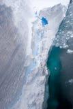 Bordo di mensola del ghiaccio Immagini Stock