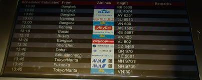 Bordo di partenza dell'aeroporto nell'aeroporto di Tan Son Nhat fotografia stock