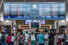 Bordo di partenza nell'aeroporto internazionale di chilolitro Partenza Hall Mala Fotografie Stock Libere da Diritti