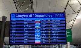 Bordo di partenza di Tan Son Nhat Airport immagini stock