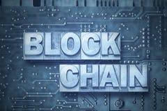 Bordo di pc di Blockchain fotografia stock