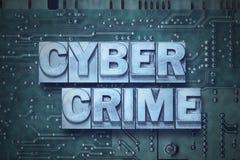 Bordo di pc cyber di crimine fotografia stock