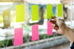 Bordo di programma di ricordo della carta per appunti Fotografia Stock Libera da Diritti