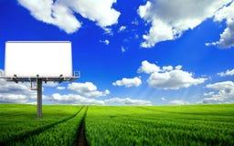 Bordo di pubblicità in bianco Fotografia Stock Libera da Diritti