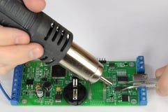 Bordo di saldatura del chip del radiatore Immagine Stock Libera da Diritti