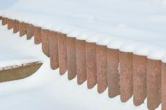 Bordo di Snowy Immagine Stock
