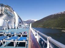 A bordo di una nave da crociera Fotografia Stock