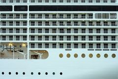 A bordo di una nave da crociera, un frammento Immagini Stock