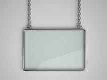 Bordo di vetro con la struttura del metallo Immagine Stock Libera da Diritti