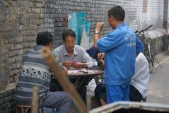 Bordo di Xiangqi negli scacchi di cinese del gioco Immagini Stock Libere da Diritti